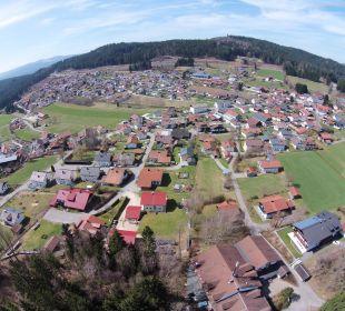 Langdorf aus 200 m Höhe  Sonnenhotel Eichenbühl