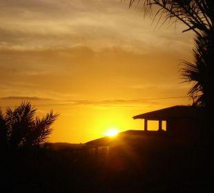 Zonsondergang vanaf het terras Guesthouse StevieWonderLand