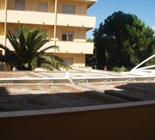 Widok na dachy Park Hotel Marinetta