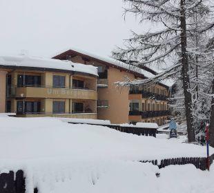 Hotel von der Piste aus  Hotel Gartnerkofel