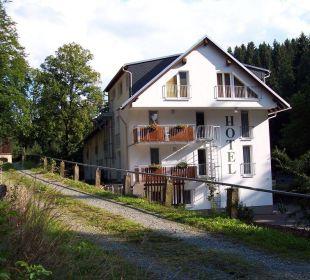 Ausblick vom Wald Hotel Waldmühle
