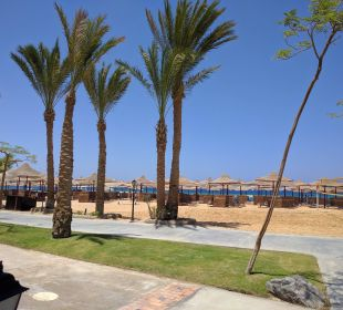 Blick aus dem Beachrestaurant Hotel Iberotel Makadi Beach
