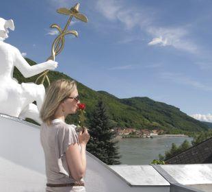 Ausblick von der Dachterrasse Gasthaus Prankl