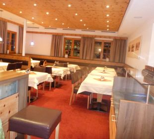 Winter 2012: Speiseraum Hotel Lukas