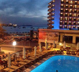 Blick vom Balkon Hotel Osiris