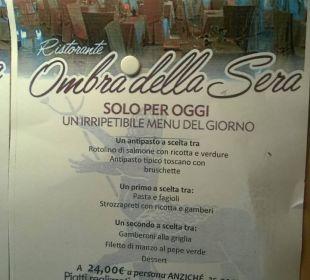 Menu Park Hotel Marinetta
