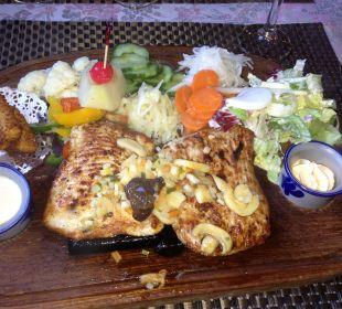 Fleisch vom heissen Stein Hotel Blinnenhorn
