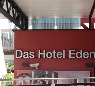 Der Name des Hotels Das Hotel Eden