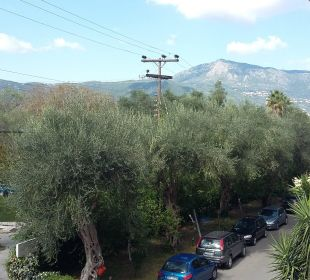 Aussicht vom Balkon landseitig Hotel Elea Beach