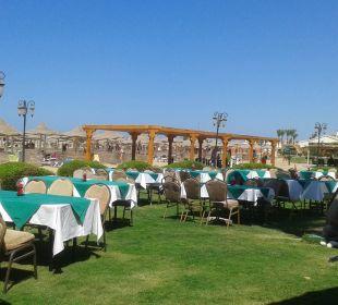 Aussenbereich des Strandrestaurants