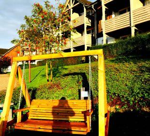 Ausschnitt der Gartenanlage Hapimag Resort Winterberg