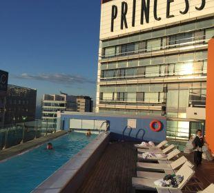 Blick vom Dachpool Hotel Barcelona Princess