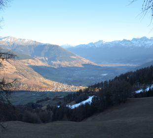 Blick zur Ortlergruppe Alpin & Relax Hotel Das Gerstl