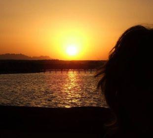 Sonnenuntergang Ausblick vom Chalet