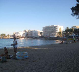 Strand in Es Cana Hotel Casa Pepe