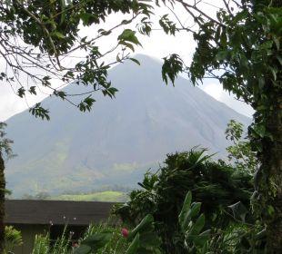 Blick von unserem Balkon auf Arenal Hotel Montana de Fuego
