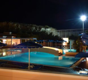 Pool by Night Hotel Mitsis Rhodos Village & Bungalow