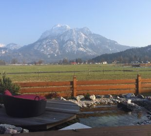 Ausblick vom Balkon Hotel Das Rübezahl