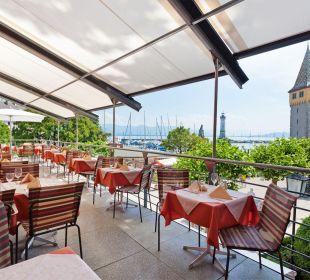 Offene Sonnenterrasse Hotel Lindauer Hof