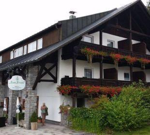 Hauseingang Hotel zum Friedl