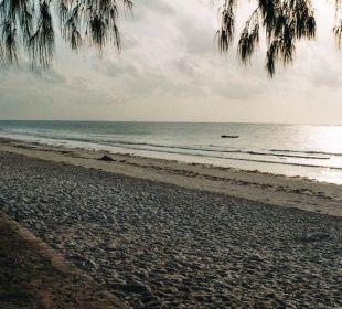 Der Schöne Strand vorm Aufstehen Hotel Diani Sea Lodge