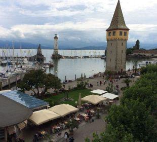 Blick auf den Hafen Hotel Lindauer Hof