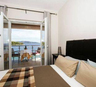 Doppelzimmer mit Frühstück und Meerblick Insel Iz Pension Villa Baroni