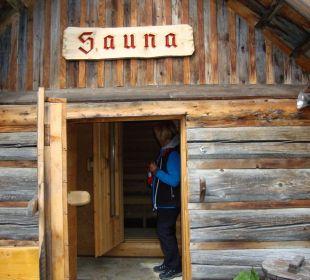 Sauna für alle in der Anlage