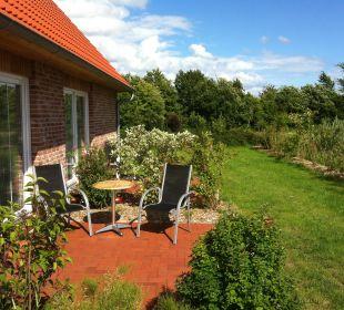 Terrasse und Garten Ferienwohnungen Hass