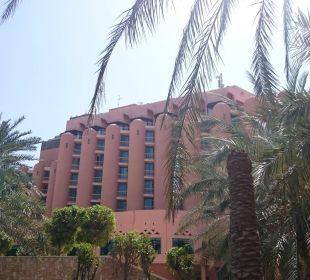 Od strony ogrodu i laguny Sheraton Hotel & Resort Abu Dhabi