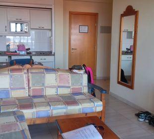 Wohnzimmer und Küche Hotel Las Olas