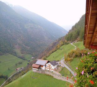 Aussicht vom Balkon Oberversanthof