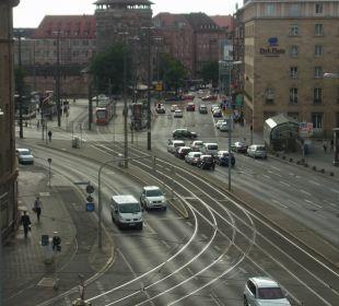 Ausblick Richtung Bahnhofsplatz Novotel Nürnberg Centre Ville