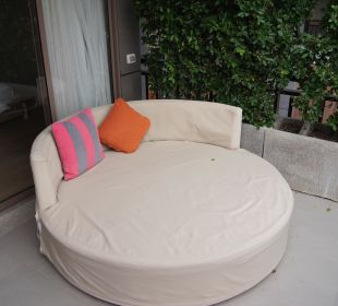 Day Bed auf der Terrasse Hotel Rest Detail Hua Hin