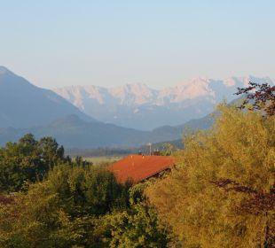 Ausblick aus unserem Zimmer Hotel Alpenhof Murnau