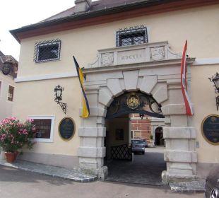 Hoteleingang Hotel Schloss Dürnstein