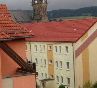 Ausblick von der Gemeinschaftsterrasse Parkhotel Neustadt