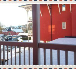 Aussicht aus unserem Balkon Das Hotel Eden