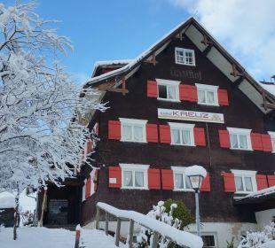 Hotel Kreuz nach einer Schneenacht Gasthof Kreuz
