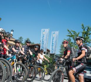 Start zur Biketour Funsport-, Bike- & Skihotelanlage Tauernhof