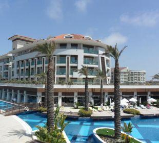 Hotelanlage von Strandrichtung
