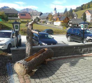 Ausblick von der Terrasse Hotel Lanz