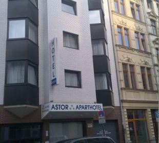 Die Werte sind im inneren Astor und Aparthotel