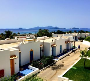 Ausblick vom Balkon Hotel Lagas Aegean Village