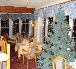 Restaurant mit Weihnachstdeko Hotel Im Schwedischen Hof