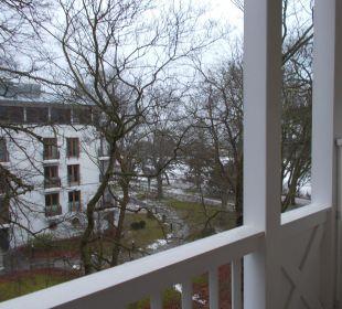 Blick vom Balkon Hotel Travel Charme Strandidyll