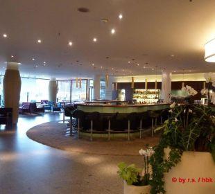 Blick auf die Lobbybar wo abends Livemusik ist Hotel Neptun