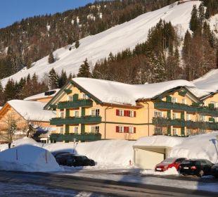 Schnee wohin das Auge reicht Hubertus Alpin Lodge & Spa