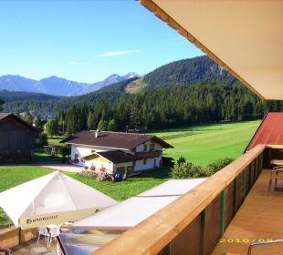 Blick vom Balkon Landhotel Wolf