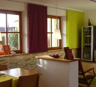 Getränkeecke im Frühstückszimmer Gästezimmer Fewos Familie Neubert